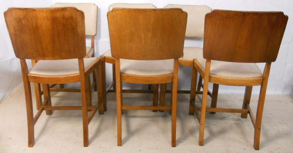 set of six walnut dining chairs in the art deco style art deco dining chairs